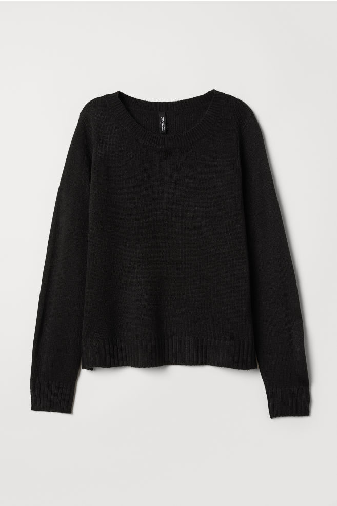 Knitted jumper - Black - Ladies  04546d6160e9