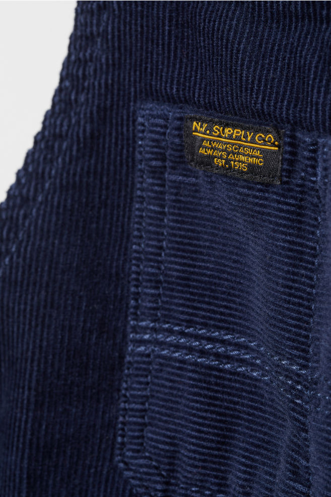 d5f200970b7 ... Corduroy Bib Overalls - Dark blue - Kids