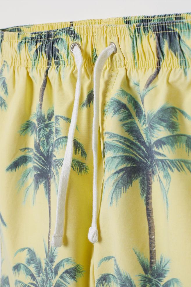 short swim shorts light yellow palm trees h m