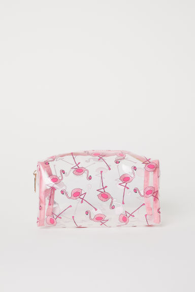 Transparante make-uptas - Transparant/flamingo's -  | H&M BE