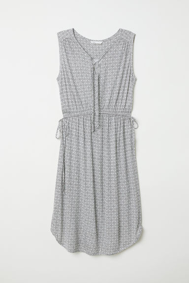 MAMA Jersey dress - White/Patterned - Ladies | H&M