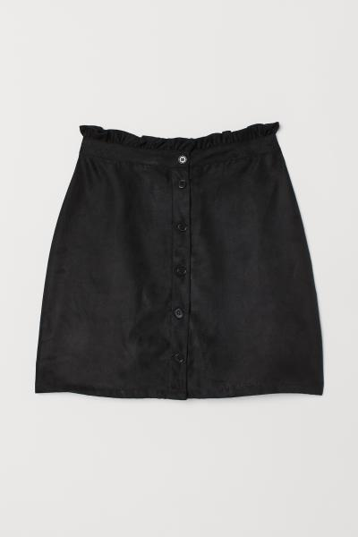 H&M - Imitation suede skirt - 5