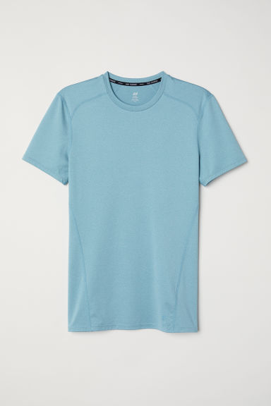 Short-sleeved sports top - Turquoise - Men | H&M