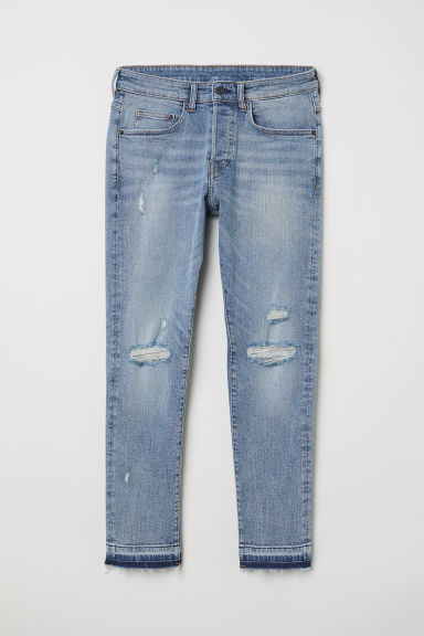 Skinny Cropped Jeans - Licht denimblauw/trashed - HEREN | H&M BE