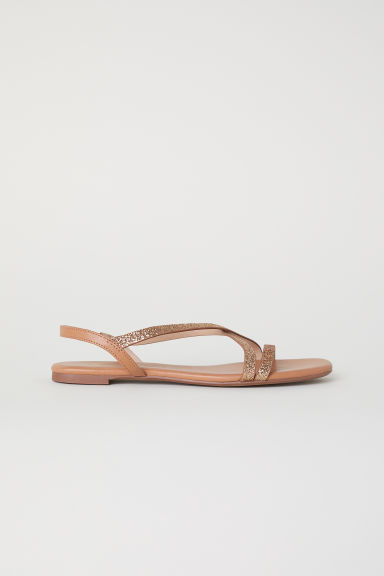 Sandals - Gold-coloured glitter - Ladies | H&M CN
