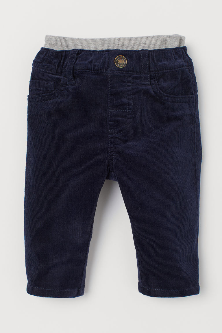 Pull-on Corduroy Pants - Dark blue - Kids | H&M US