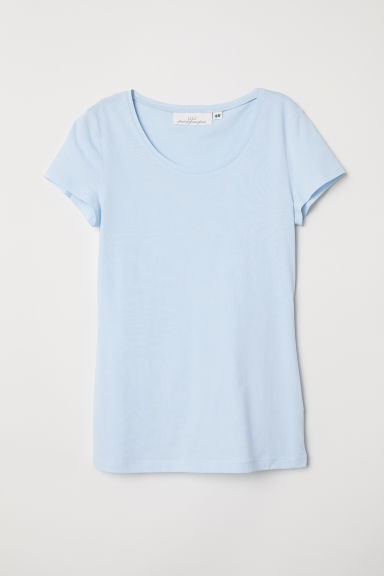 T-shirt - Light blue - Ladies | H&M CN