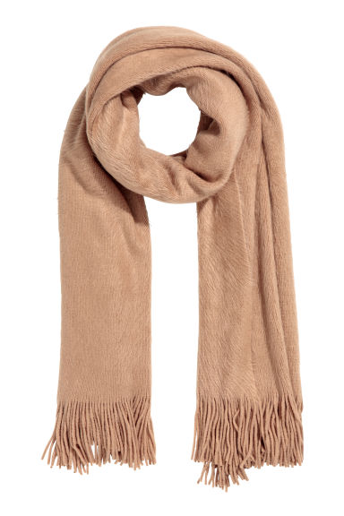 Knitted scarf - Camel -  | H&M IE