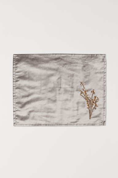 Velvet table mat - Light mole - Home All | H&M CN