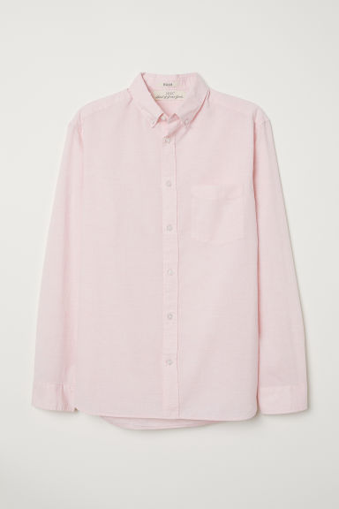 Camicia popeline Regular fit - Rosa chiaro -  | H&M IT