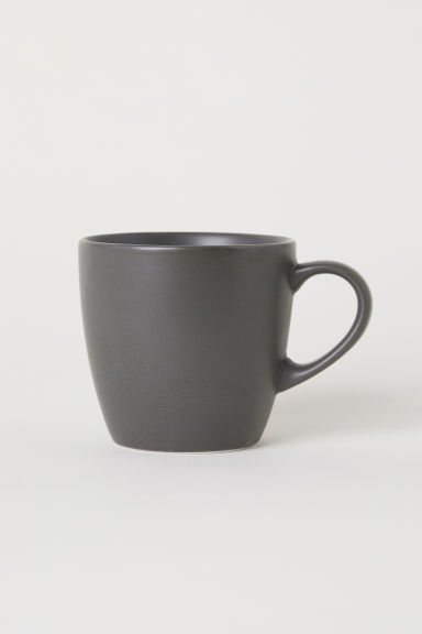 Porcelain mug - Dark grey - Home All | H&M CN
