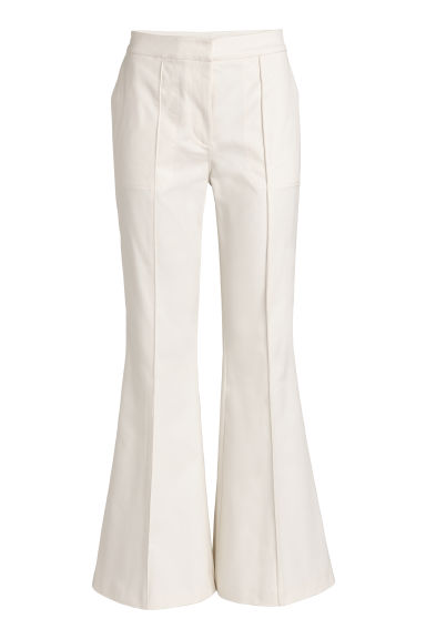 Flared trousers - Natural white -  | H&M CN
