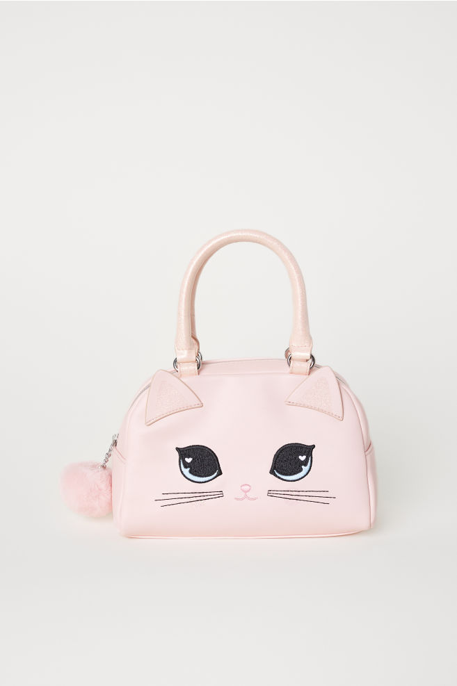 aee4ca333cd07 Handtasche - Hellrosa Katze - Kids