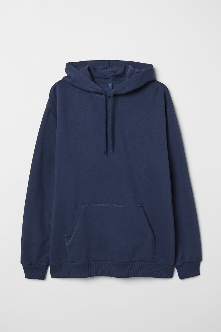 Hooded top - Dark blue - Men | H&M