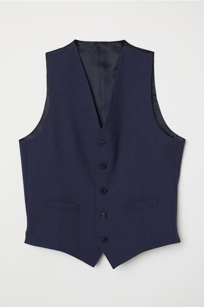 Gilet de costume en laine - Bleu marine - HOMME  af1f2b801a7