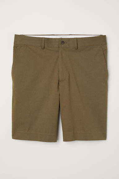 Cotton shorts - Khaki green - Men | H&M