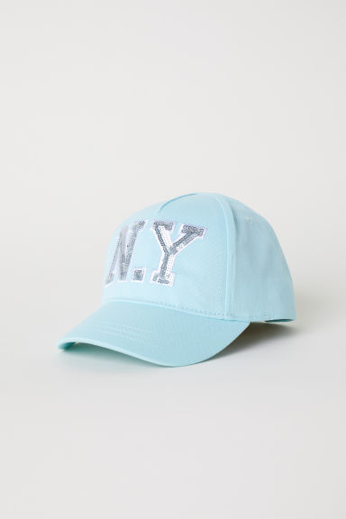 Cap with an appliqué - Turquoise/N.Y - Kids | H&M CN