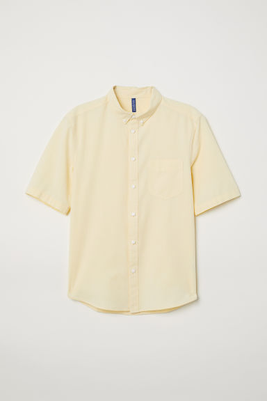 Camisa de algodón Regular Fit - Amarillo -  | H&M ES