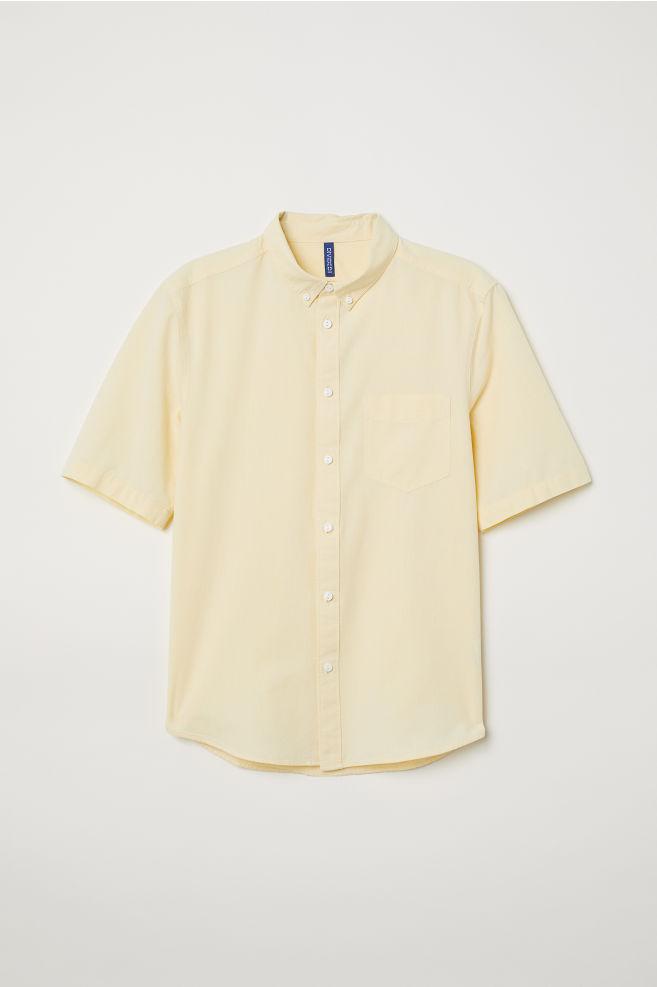 Geel Overhemd.Katoenen Overhemd Regular Fit Geel Heren H M Nl