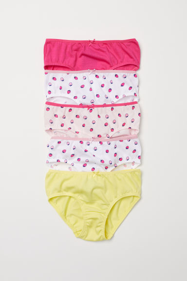 5-pack bragas brief de algodón - Cerise/Strawberries - Kids | H&M US