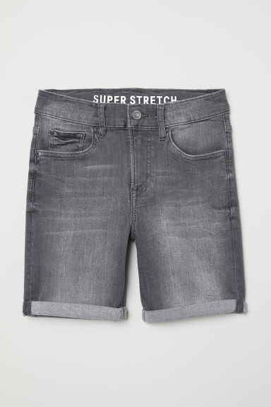 Denim shorts Slim Fit - Denim grey - Kids | H&M CN