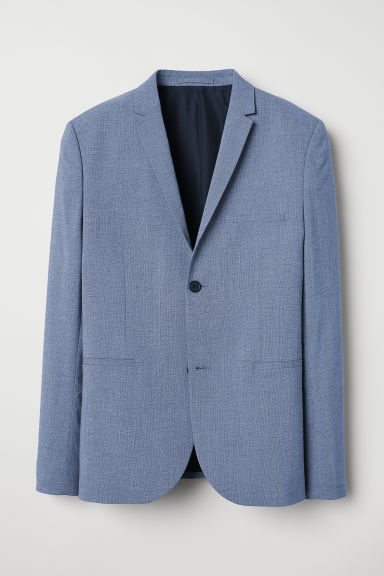 Jacket Super skinny fit - Blue marl - Men | H&M