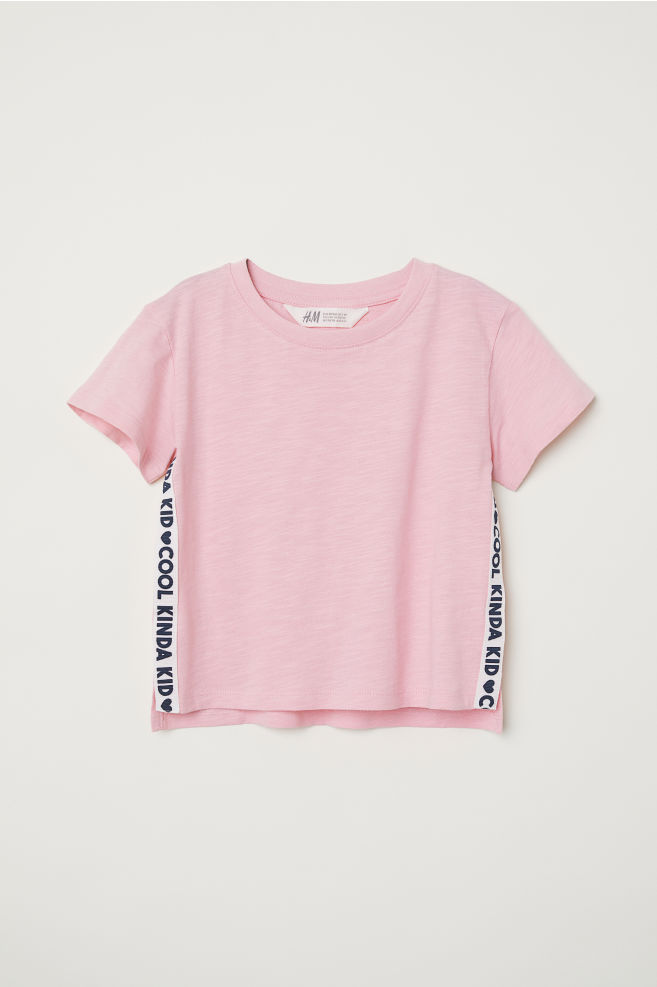 Широкая футболка - Бледно-розовый Cool Kinda Kid - Дети   H M ... 1a5d9df6a4f