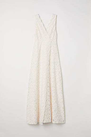 Long lace dress - Cream -  | H&M