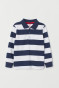 Navy blue/White striped