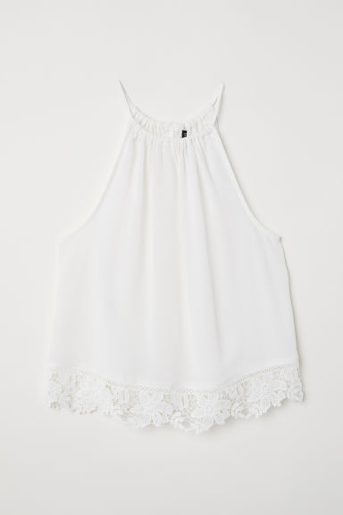 Top in tessuto goffrato - Bianco - DONNA | H&M IT