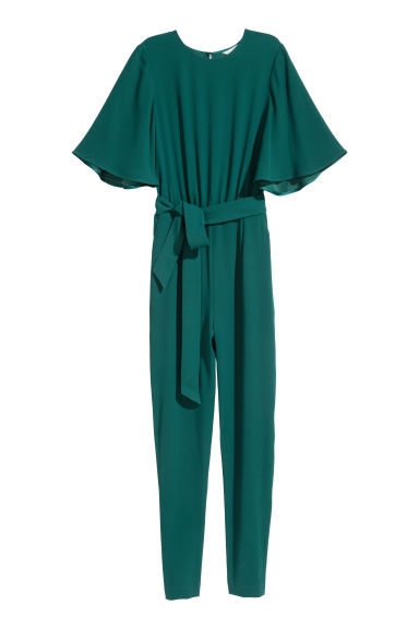 Jumpsuit - Emerald green - Ladies | H&M CN