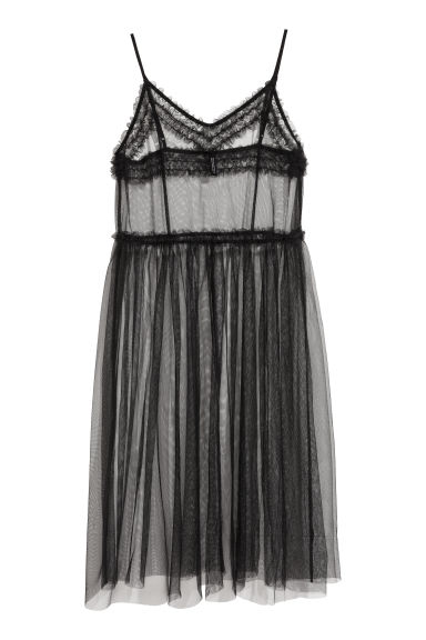 Transparent mesh dress - Black - Ladies | H&M GB