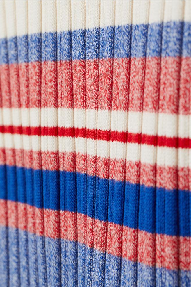 9c2423a20 ... Rib-knit Skirt - Blue/red striped - Ladies | H&M ...