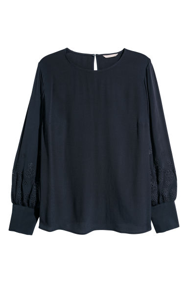 H&M+ Blouse - Dark blue -  | H&M