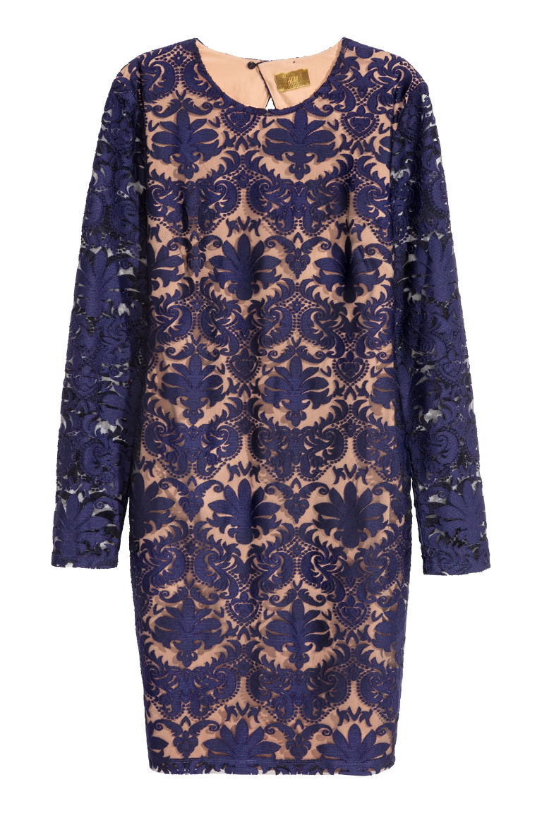 Lace dress - Blue - Ladies | H&M CN
