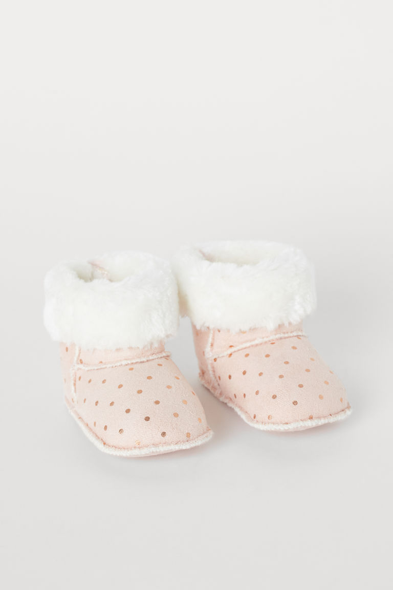 Soft Slippers - Light pink/dotted - Kids | H&M US