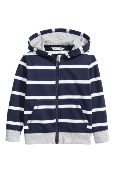 Hooded jacket - Dark blue/Grey - Kids | H&M CN
