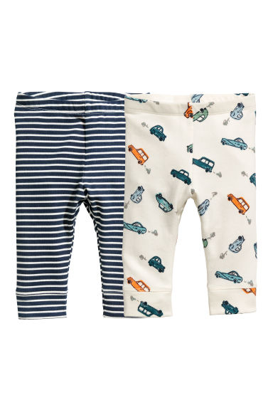Lot de 2 leggings - Écru/Cars -  | H&M BE