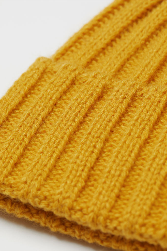 Knit Hat - Yellow - Ladies  a22fd2ea0be