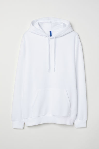 Hooded top - White - Men | H&M
