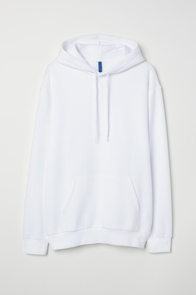 Hooded Sweatshirt - Light pink - Men  2c7a824b5