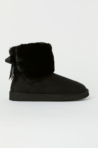 Warm-lined boots - Black -  | H&M
