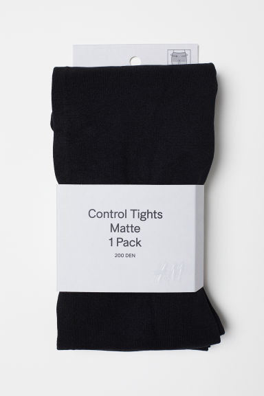 200 denier Control-top tights - Black - Ladies | H&M CN