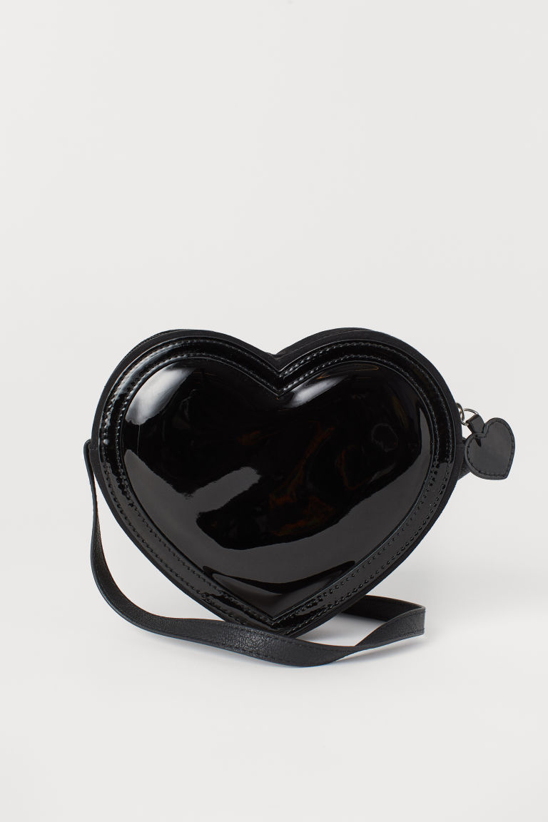 Heart-shaped Shoulder Bag - Black -  | H&M US