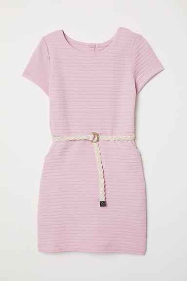 Jersey dress with a belt - Light pink - Kids | H&M