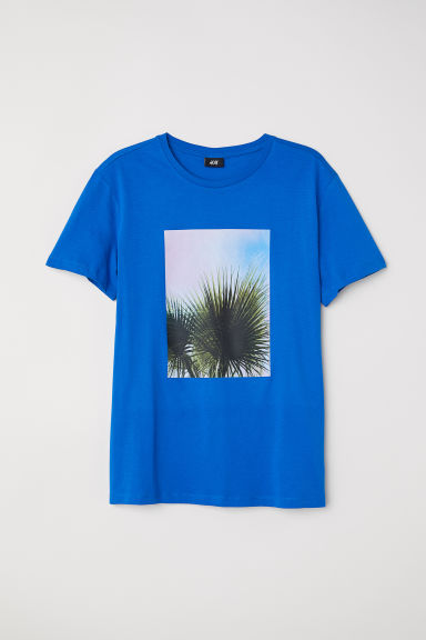 Printed T-shirt - Bright blue -  | H&M CN