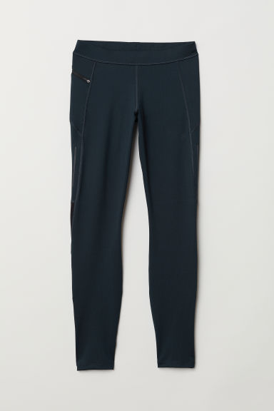 Leggings da running - Blu scuro -  | H&M IT