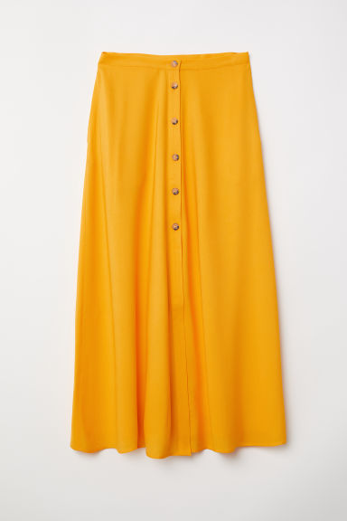 Calf-length skirt - Yellow - Ladies | H&M