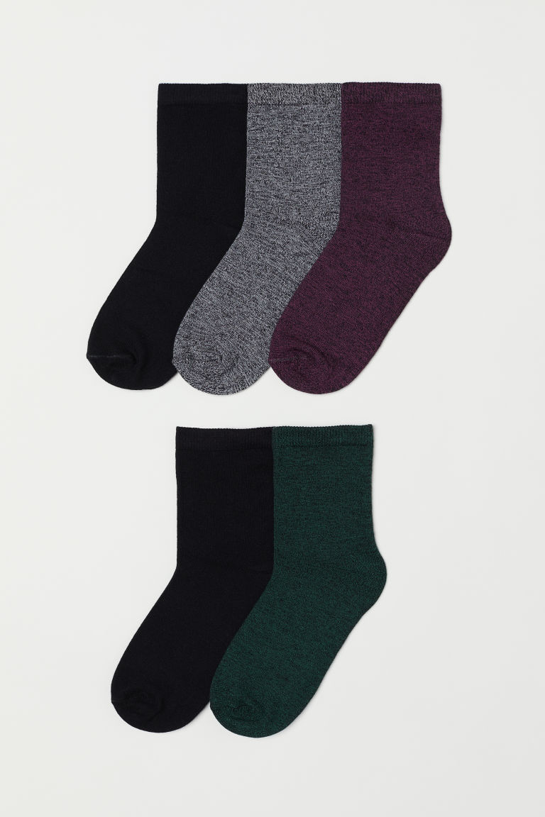 5-pack socks - Purple marl -  | H&M