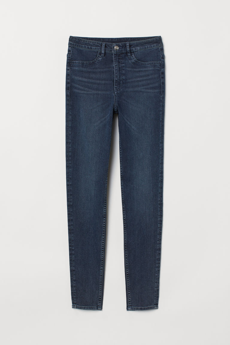 Super Skinny High Jeans - Dark denim blue -  | H&M CA